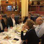 Με τον πρόεδρο της Ένωσης Κεντρώων Βασίλη Λεβεντη και την σύζυγο του