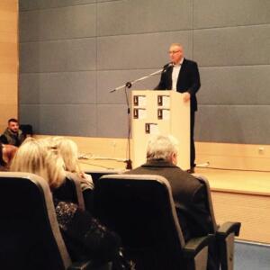 Ομιλία στο Πολιτιστικό κέντρο Γαλατσίου 12.01.2015